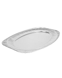 bandejas ovales 54,8x36x2,2 cm aluminio (10 unid.)