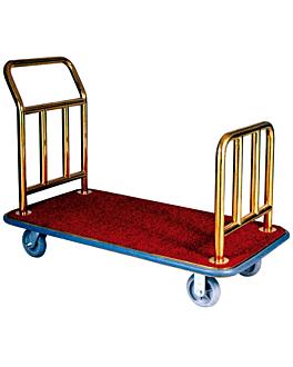 luxury luggage trolley 124x64x94 cm gold brass (1 unit)