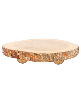 round presentation tray Ø 23x3,5 cm natural wood (6 unit)
