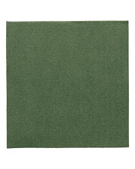 serviettes ecolabel 'double point' 18 g/m2 33x33 cm vert jaguar ouate (1200 unitÉ)
