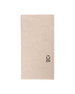 ecolabel napkins 2 ply f. 1/8 18 gsm 40x40 cm natural recycled tissu (1800 unit)