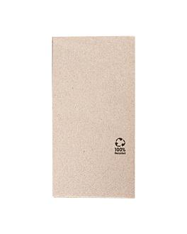 serviettes ecolabel 2 plis p.1/8 18 g/m2 40x40 cm naturel ouate recyclÉe (1800 unitÉ)