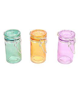 mini barattolino per snacks 70 ml Ø 4,5x8,6 cm colori varie cristal (96 unitÀ)