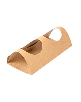 support pour 2 gobelets 29,2x21 cm naturel kraft (400 unitÉ)