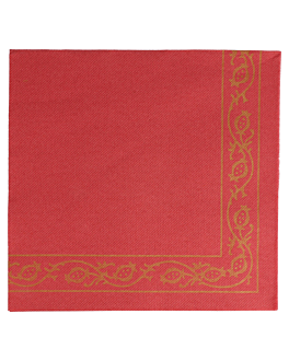 serviettes ecolabel 'double point - pÉrsico' 18 g/m2 40x40 cm bordeaux ouate (1200 unitÉ)