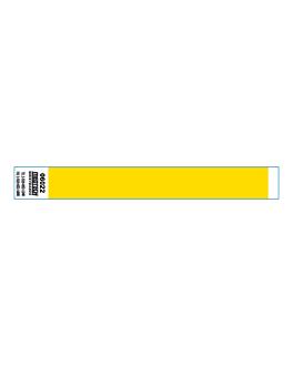 braccialetti non trasferibili adesivo 2x25,5 cm giallo pvc (1000 unitÀ)