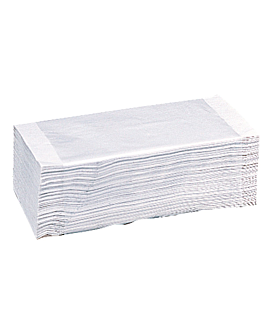 """serviettes essuie-mains 2 plis - pliage en """"z"""" 22x38 cm blanc ouate (2500 unitÉ)"""