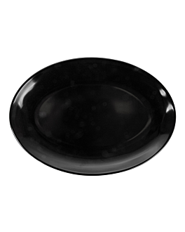 oval dishes 25,5x18 cm black melamine (15 unit)