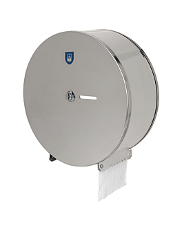 toilet dispenser 'maxi jumbo' Ø 28,5x12 cm silver stainless steel (1 unit)