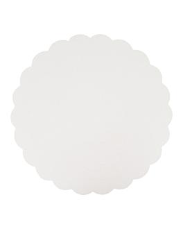 discos planos pastelerÍa 300 g/m2 Ø 27 cm blanco cartÓn (250 unid.)