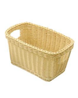 baguette basket 43x22,5x29 cm natural pp (1 unit)
