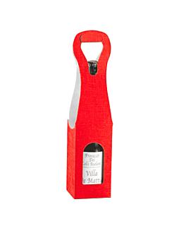 100 u. cajas 1 botella 9x9x41 cm rojo cartÓn (100 unid.)