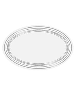 1000 u. etiquetas blanco mate 5,5x3,5 cm plateado adhesivo (1 unid.)