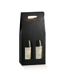 30 u. cartons 2 bouteilles 18x9x34 cm noir carton (1 unitÉ)