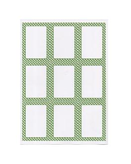 100 feuilles din a4 9 Étiquettes rectangulaires 6,3x9 cm blanc papier (1 unitÉ)
