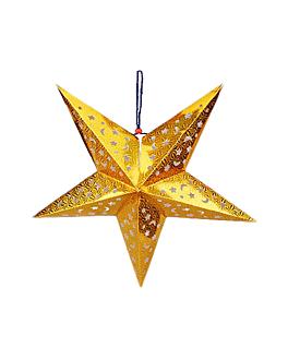 estrellas colgantes Ø 30 cm oro papel (10 unid.)