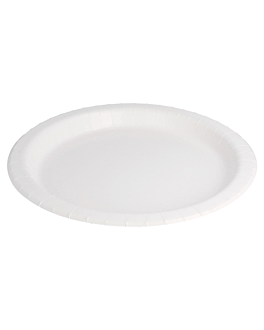 piatti rotondo bio-laccati 342 g/m2 Ø 26 cm bianco cartone (280 unitÀ)