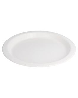 round bio-lacquered plates 342 gsm Ø 26 cm white cardboard (280 unit)