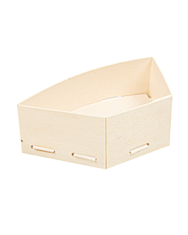 mini containers for appetisers 10,5x6,2x3,5 cm natural wood (200 unit)