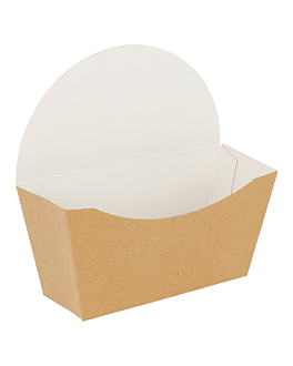 scatolina bagel scoop 300 g/m2 12x4,5x12 cm marrone cartone (1000 unitÀ)