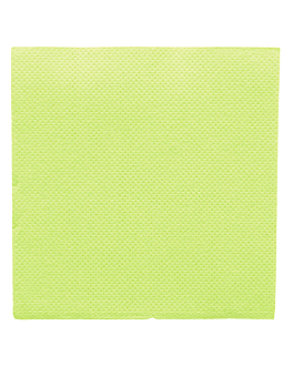 ecolabel napkins 'double point' 18 gsm 20x20 cm aniseed green tissue (2400 unit)