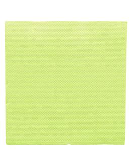 serviettes ecolabel 'double point' 18 g/m2 20x20 cm vert anis ouate (2400 unitÉ)