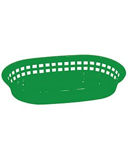 cestino allungato 28x17,5x4 cm verde pp (12 unitÀ)