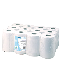 "hand towel ""mini barril"" ecolabel 2 ply - 160 sheets 19 gsm Ø 13x20 cm white tissue (12 unit)"
