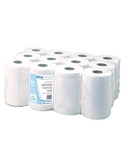 """essuie-mains """"mini-barril"""" ecolabel 2 plis - 160 feuilles 19 g/m2 Ø 13x20 cm blanc ouate (12 unitÉ)"""
