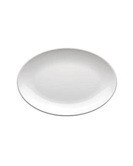 assiettes ovales 23x16 cm blanc melanine (72 unitÉ)