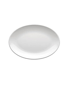 oval plates 23x16 cm white melamine (72 unit)