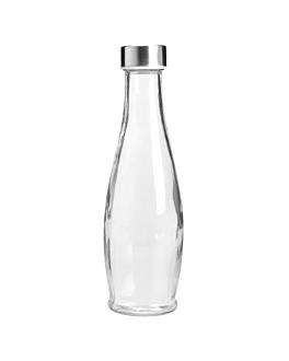 bottiglia + coperchio inox 930 ml Ø9x32 cm trasparente cristal (24 unitÀ)