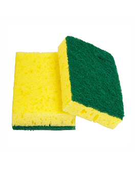 esponjas con fibra abrasiva super 96 11x7x2,5 cm verde fibra (12 unid.)