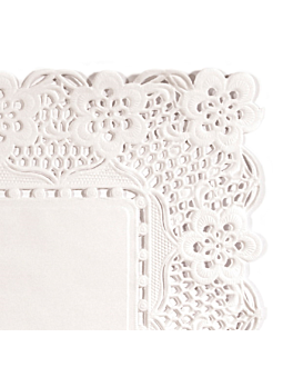 rectangular greaseproof doilies 40 gsm 40x30 cm white greaseproof parch. (250 unit)
