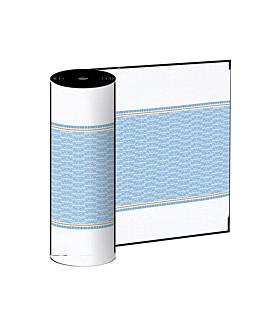 """""""tÊte À tÊte"""" prÉ. 120cm (20 ser.) 'like linen - azur' 70 g/m2 0,40x24 m branco/azul spunlace (6 unidade)"""