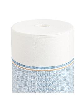 """tÚ y yo"" pre. 120cm (20 ser.) 'like linen - azur' 70 g/m2 0,40x24 m blanco/azul spunlace (6 unid.)"