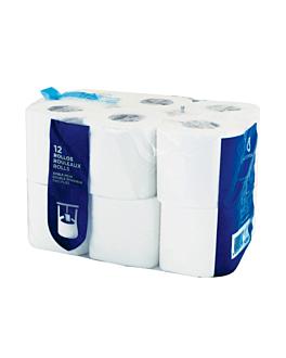 12 u. rottolo igienico 2 veli 2x17 g/m2 9 cm (h) x 23 m bianco cellulosa (1 unitÀ)