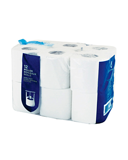 12 u. papel higiÉnico 2 capas 2x17 g/m2 9 cm (h) x 23 m blanco celulosa (1 unid.)