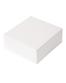 cake boxes without window 'thepack' 250 gsm 18x18x7,5 cm white nano-micro corrugated cardboard (200 unit)