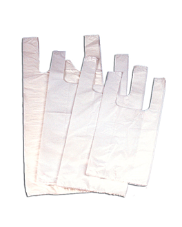 sacs bretelle 25µ 40/27x50 cm blanc pehd (200 unitÉ)