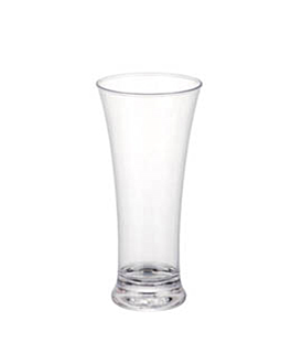 thick base beer cups 310 ml Ø 7,9x18 cm clear polycarbonate (72 unit)