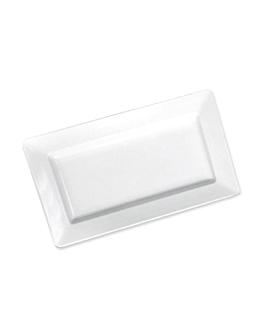 vassoi rettangolari 35,8x20,3x4 cm bianco melamina (6 unitÀ)
