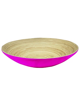 bols Ø 30x9 cm fuchsia bambou (30 unitÉ)