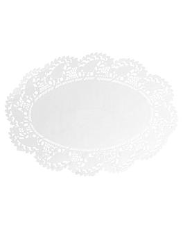 blondas ovales caladas 53 g/m2 35,7x26,5 cm blanco papel (250 unid.)