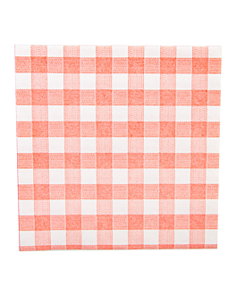 napkins 'like linen - vichy' 70 gsm 40x40 cm red spunlace (600 unit)