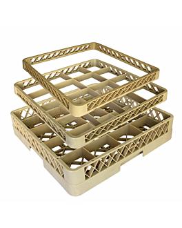 suplemento rack de 16 compartimentos 50x50x4,5 cm beige pp (1 unid.)