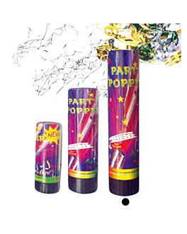 24 tubos party popper 20,5 (h) cm surtido (1 unid.)