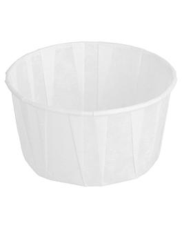 pots traiteur plissÉ 120 ml Ø7,7x4,2 cm blanc parch.ingraissable (250 unitÉ)