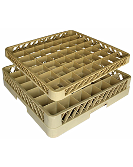 suplemento rack 49 compartimentos 50x50x4,5 cm beige pp (1 unidade)