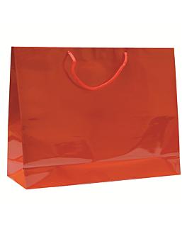 bolsas boutique, asa cordÓn 150 g/m2 40+15x32 cm rojo kraft (100 unid.)